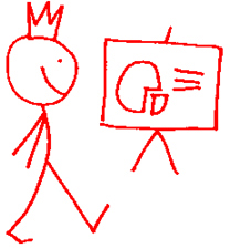 Presentation Man stick figure
